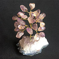 Дерево из камня, сувенирное деревце из аметиста, размер S.