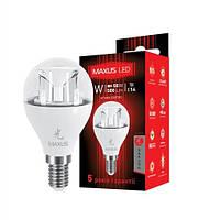 LED лампа MAXUS G45 6W 3000K 220V E14 (1-LED-435)