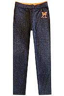 Серые лосины с контрастным принтом; 98, 110, 116, 122, 128 размер, фото 1