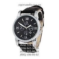Практичные мужские наручные часы Omega Quartz Black/Silver/Black