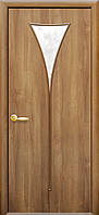 Дверь МОДЕРН БОРА  экошпон цвет: венге 3D, дуб жемчужный, ясень патина, кедр, сандал.(стекло сатин)
