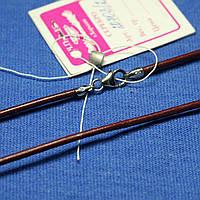 Кожаный шнурок с серебряной застежкой 40 см 20703/2