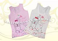 Майка детская для девочки ТМ Donella р. 2/3 (98-104 см) молочный, розовый