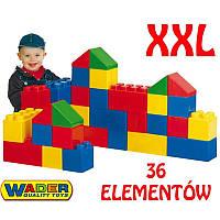 Конструктор большие блоки  XXL 36 дет Wader 37527
