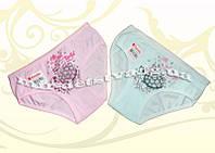Трусы детские для девочек ТМ Donella оптом р. 6/7 лет (122-128 см) розовый, бирюза