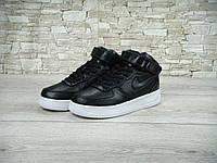 Мужские кроссовки Nike air force high новые. (найк аир форс хай) черные