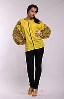 Желтая  женская вышиванка Ясные зори