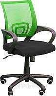 Кресло Веб сиденье Сидней-чёрный/спинка Сетка салатовая.