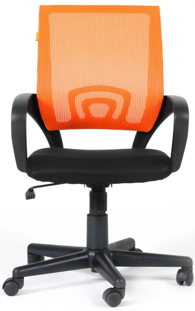 Кресло Веб сиденье Сетка чёрная/спинка Сетка оранжевая.