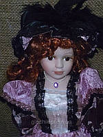 Кукла фарфоровая интерьерная коллекционная 41см