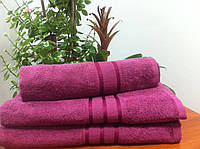 Махровое полотенце 70Х140  Сливовое 400