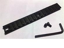 Планка Weaver 155 mm, кріплення на зброю