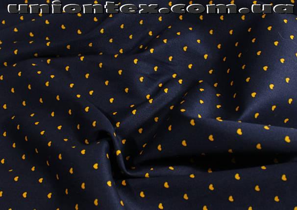Ткань коттон стрейч принт сердечки, фото 2