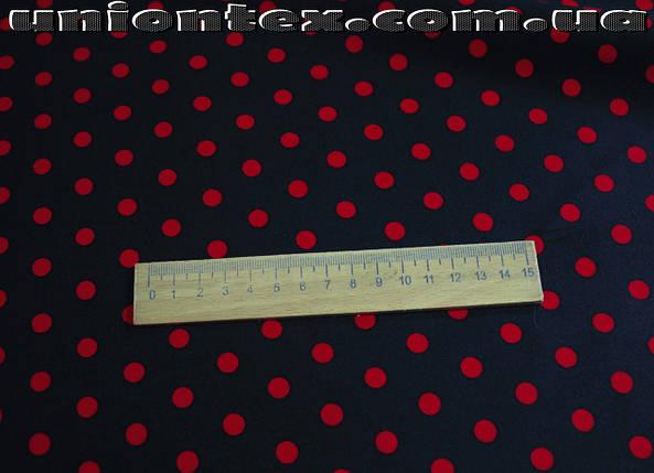 Ткань коттон стрейч принт горох (от 5 метров), фото 2