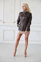 Куртка Lux кожа коричневая