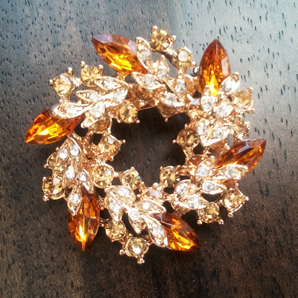 Брошь женская Italina Rigant кристаллы swarovski