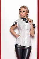 Женская рубашка с коротким рукавом белого цвета