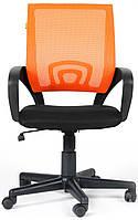 Кресло Веб сиденье Сетка чёрный/спинка Сетка оранжевый.