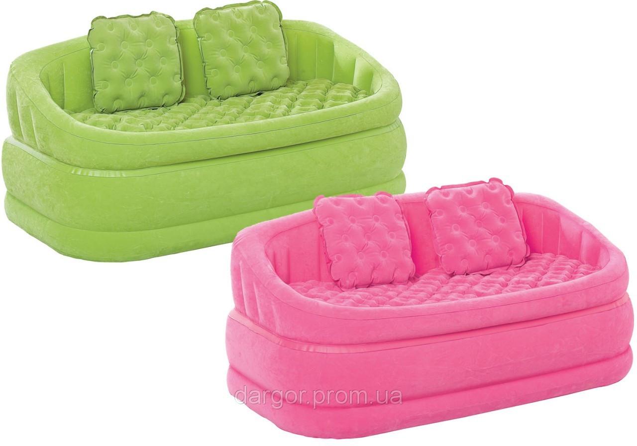 Надувной велюровый диван 68573 Intex