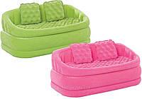 Надувной велюровый диван 68573 Intex, фото 1
