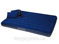 Матрас надувной Intex 68765 + ручной насос и 2 подушки