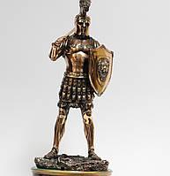 Статуэтка (фигурка) Воина с мечом на плече с медным покрытием