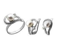 """Набір """"Кармен"""" - Кільце і сережки зі срібла 925 проби , серебряный набор"""