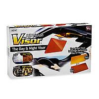 Антибликовый козырек для автомобиля HD Visor Clear View, солнцезащитный козырек 2 в 1