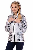 Женская демисезонная куртка 01.169 белый, 42-50 размер