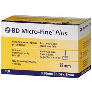 Иглы для шприц-ручек универсальные BD Microfine Plus 0,3 * 8мм (Микрофайн)