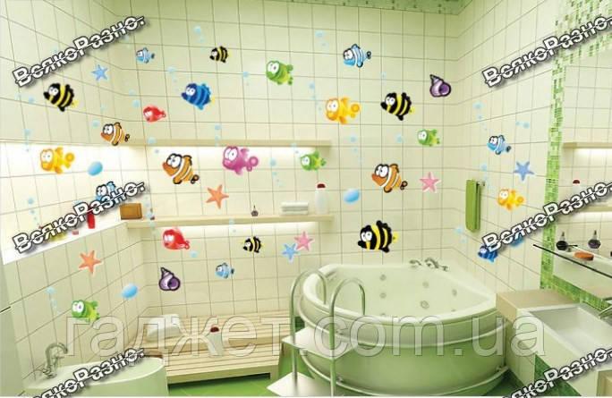 Набор наклеек в ванную  Рыбки