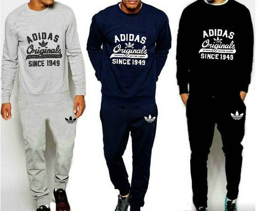 Спортивный костюм Adidas Originals (Адидас) Черный, серый, темно-синий 🔥