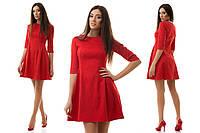 Жаккардовое нарядное короткое платье фасон бэби-долл