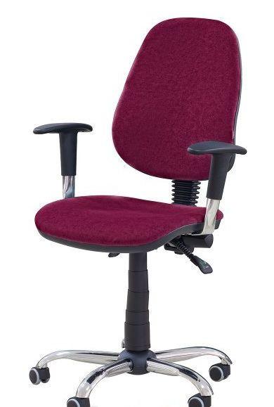 Кресло Бридж Хром Розана-32 бордовый. Благодаря наличию стильных хромированных элементов кресло придаст современный вид вашему интерьеру.