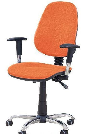 Кресло Бридж Хром Розана-105 оранжевый. Благодаря наличию стильных хромированных элементов кресло придаст современный вид вашему интерьеру.