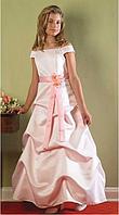Длинное королевское атласное платье на выпускной 4-14лет (5 цветов)