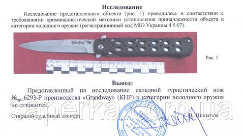 Нож универсальный с фальшлезвием Grand Way 6293 PAC, фото 2