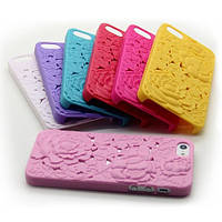 Чехлы для iPhone 5 5S Цветы 3D пластик, фото 1