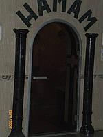 Дверь стеклянная в хамам