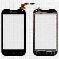 Сенсорный экран для мобильного телефона Nomi i401 Colt, черный, (117x60,5 мм), #Y106060E1-R