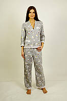 Пижама байковая женская с кружеввами!!! XS, S, M, L