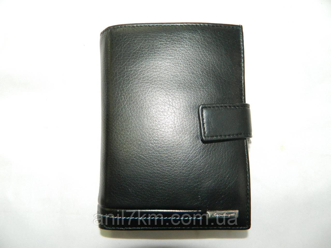 Чоловічий шкіряний гаманець-портмоне для грошей і документів