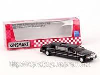 Kinsmart Lincoln Town Car лимузин    (ОПТОМ) KT7001W