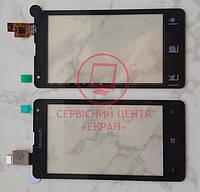 Microsoft (Nokia) Lumia 435 / 532 тачскрін сенсор чорний оригінальний