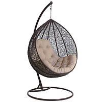 Кресло - кокон подвесное металическое  коричневое, нагрузка 110 кг