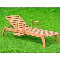 Лежак шезлонг садовый деревянный (длина 2100 мм)