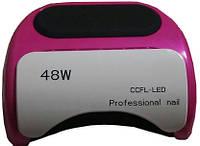УФ LED+CCFL лампа для гель-лаков и геля 48W(малиновая)