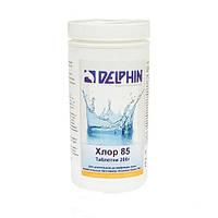 Химия для бассейнов Delphin Хлор 85 1 кг (таблетки 200гр. длительный хлор)