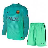 Футбольная форма Барселона безномерная, резервная сезон 2016/2017 длинный рукав