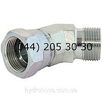 Адаптер угловой 45°, BSP x BSP, 7303, фото 1